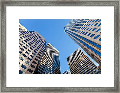 Framed Print featuring the photograph Highrises by Jonathan Nguyen
