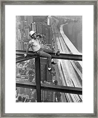 Highsteel Coffee Break Framed Print by Underwood Archives