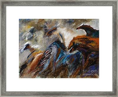 Hightailing It Out Of There Framed Print by Frances Marino