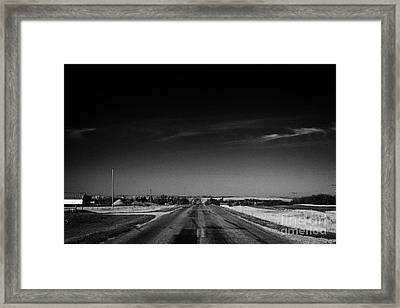 highway 34 near bengough Saskatchewan Framed Print