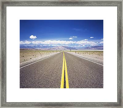 Highway 6 Passing Through A Desert Framed Print by Panoramic Images