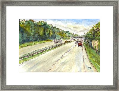 Highway 95 Framed Print