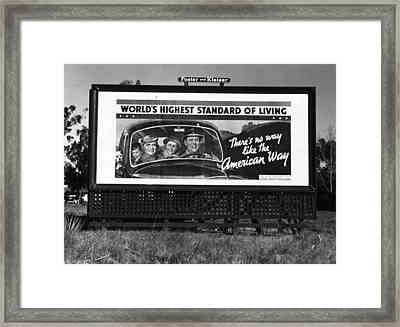 Highway Billboard, 1937 Framed Print by Granger