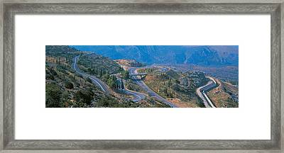Highway Delphi Greece Framed Print by Panoramic Images