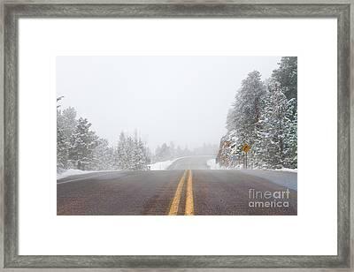 Highway Into Heaven Framed Print