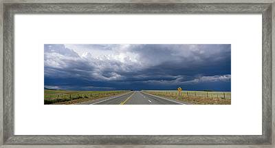 Highway Near Blanding, Utah, Usa Framed Print