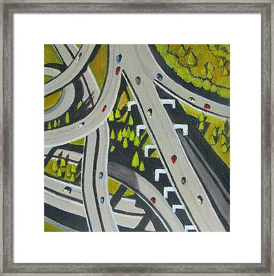 Highway Overpass Framed Print by Toni Silber-Delerive