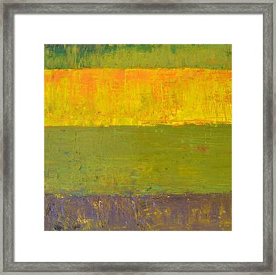 Highway Series - Sunrise Framed Print by Michelle Calkins