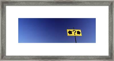 Highway Sign Framed Print