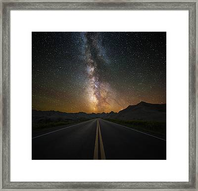 Highway To Heaven Framed Print by Aaron J Groen
