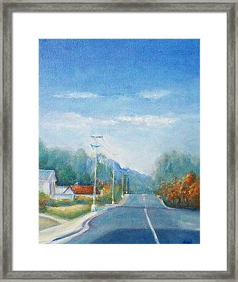 Framed Print featuring the painting Highway To Heaven by Jane  See