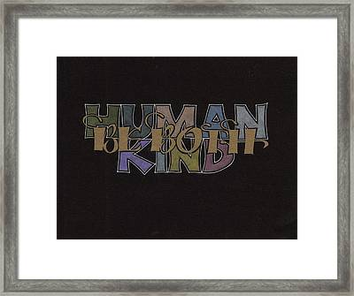 Highway Wisdom Framed Print