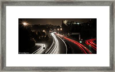 Framed Print featuring the photograph Highway's Lights by Stwayne Keubrick