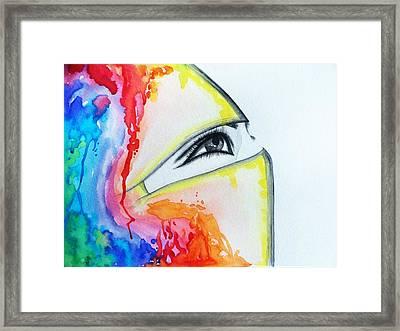 Hijab Veil Framed Print by Salwa  Najm