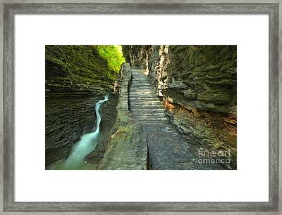 Hike Along The Gorge Trail Framed Print by Adam Jewell