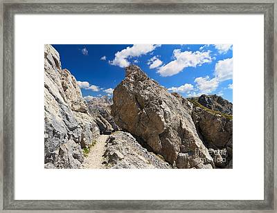 hike in Dolomites Framed Print