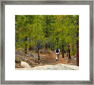 Hike On 2 Framed Print by Brent Dolliver
