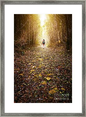 Hiker Girl Framed Print by Carlos Caetano