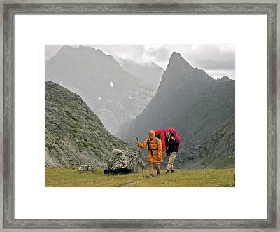Hikers Framed Print