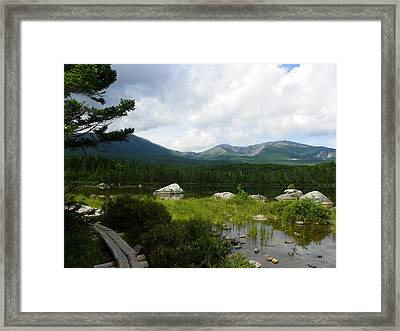 Hiker's Reward Framed Print