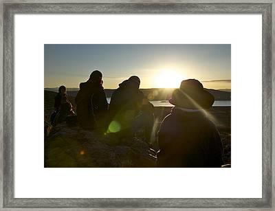 Hiker's Reward Framed Print