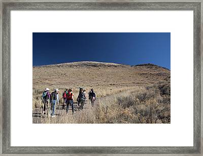 Hikers With Babies Framed Print