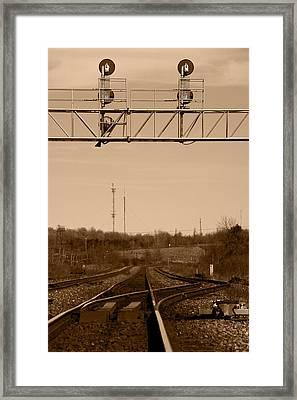 Hikin' The Tracks Framed Print by Paul Wash