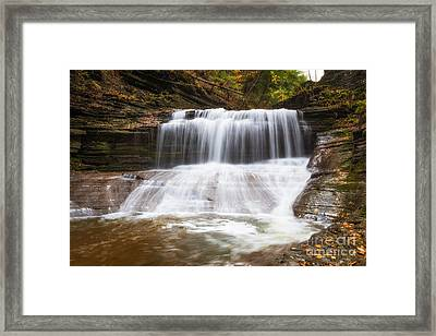 Hiking Buttermilk Falls  Framed Print by Michael Ver Sprill
