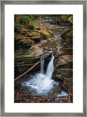 Hiking Buttermilk Falls Ny  Framed Print by Michael Ver Sprill