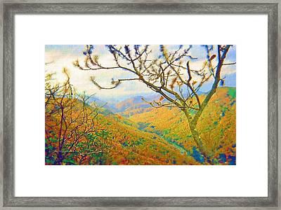 Hiking Chimney Rock  Framed Print