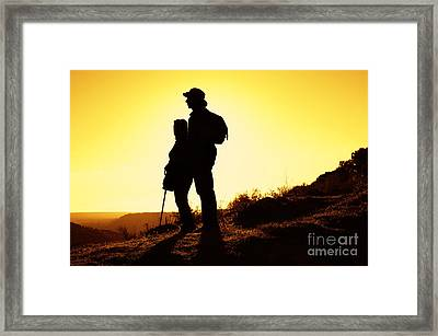 Hiking Couple Framed Print by Carlos Caetano