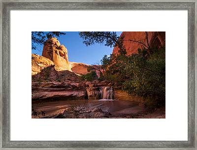 Hiking Coyote Gulch Framed Print by Michael J Bauer