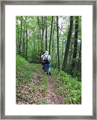 Hiking Group Framed Print by Melinda Fawver