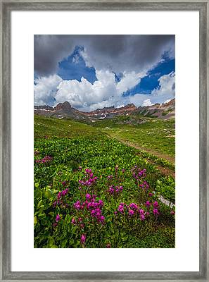 Hiking Ice Lake Basin Framed Print