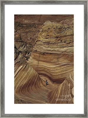 Hiking In Arizona Framed Print by Mark Newman
