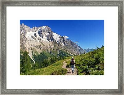 hiking in Ferret Valley Framed Print