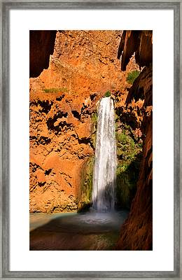 Hiking Mooney Falls Framed Print by Michael J Bauer