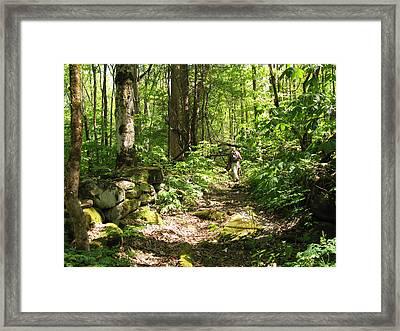 Hiking Off Trail Framed Print by Melinda Fawver