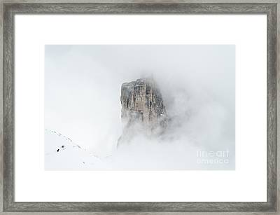 Hiking The Tre Cime In Winter Framed Print by IPics Photography