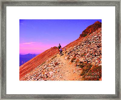 Hiking To Paradise Framed Print by Ann Johndro-Collins