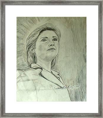 Hilary Clinton Framed Print
