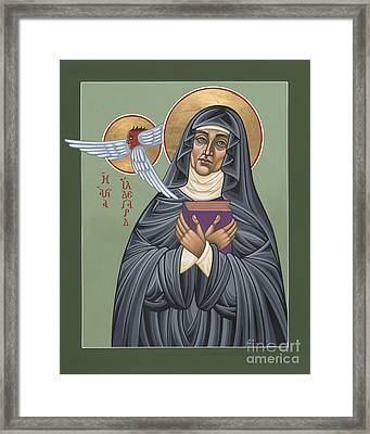 Framed Print featuring the painting St. Hildegard Of Bingen 171 by William Hart McNichols