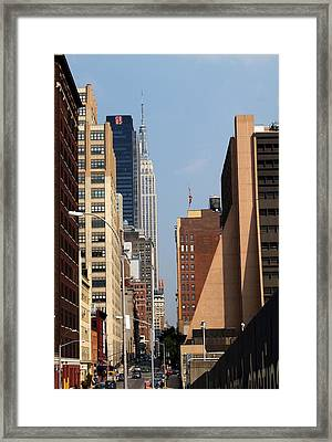 Hiline 1 Aug  Framed Print by Steve Breslow