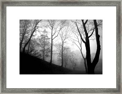 Hill And Heart Framed Print by Diana Angstadt