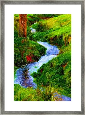 Hill And Rill Framed Print