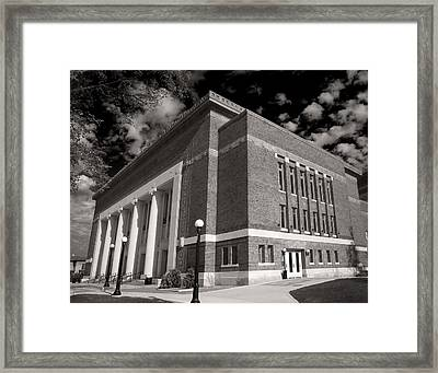 Framed Print featuring the photograph Hill Auditorium by James Howe