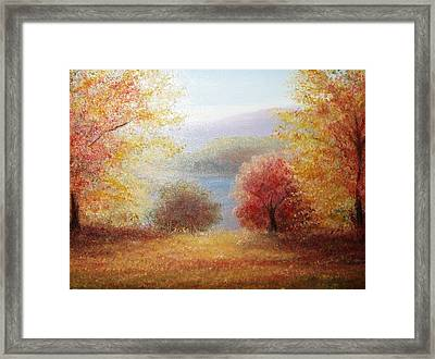 Hill Country Autumn Framed Print
