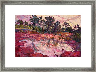 Framed Print featuring the painting Hill Country Dawn by Erin Hanson