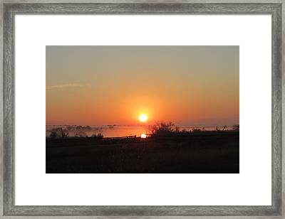 Framed Print featuring the photograph Hill Country Rising by David  Norman