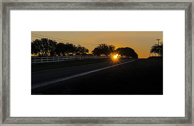 Hill Country Sunrise 2 Framed Print by Debbie Karnes